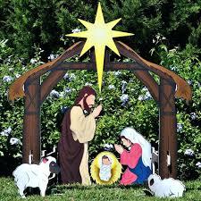 outdoor nativity set holy night printed nativity set large outdoor wooden nativity sets