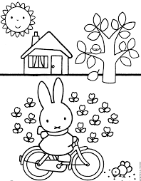 Nijntje Kleurplaat Google Zoeken Birthday Coloring Pages For