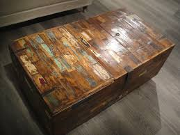 image of rustic distressed wood coffee table