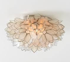 capiz floral flushmount capiz lighting fixtures