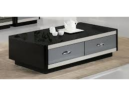 modern black coffee table drawers