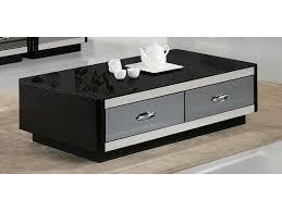 modern black coffee table drawers