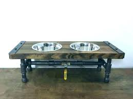 dog bowl stands stand useful idea of pet food bowls on and s wood uk