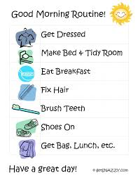 Morning Routine Printable Chart Kids Morning Routine Chart Printable Free Image