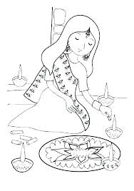 Diwali Coloring Pages Page Wallpapers Sheets Colouring Printable ...