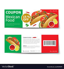 Mexican Food Coupon Discount Template Flat Design