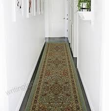 ottomanson new ottohome persian heriz oriental design runner rug with non skid rubber backing 22
