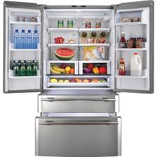 haier 9 8 cu ft refrigerator. haier pbfs21edbs 20.6 cu. ft. french door bottom mount refrigerator open view 9 8 cu ft