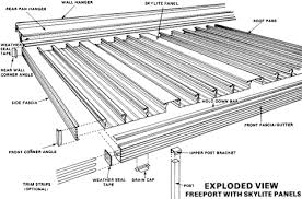 patio roof panels. Aluminum Flat Pan Roof Panels As Shown, With Or Without Skylite. All Connection System Parts Extruded, Hanging Rail Assembly (wall Hanger, Rear Hanger), Patio P