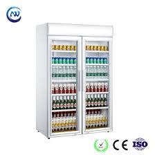 double glass door beer cooler soft drink fridge lg 1040cf