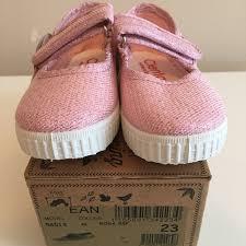 Nib Cienta Mary Jane Size 23 Light Pink Sparkle