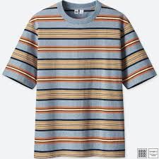Uniqlo Au Size Chart Men Uniqlo U Striped Short Sleeve T Shirt