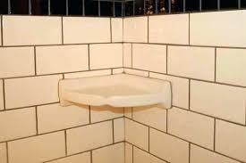 ceramic tile soap dish wall mounted for shower awesome corner shelf install a uk