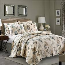 Queen Bedspreads and Quilts – Ease Bedding with Style & Flying Birds Printing 3 Piece Cotton Bedspread/Quilt Set Adamdwight.com