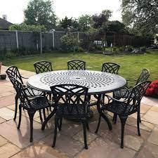 the rosie 8 seater garden table set