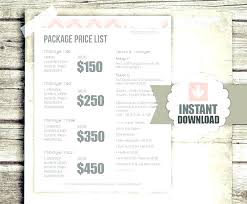 Photography Pricing Template Photography Pricing Template Psd Free Guide Price List Btcromania Info