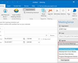 Outlook Agenda Template Save On Meeting Set Up Time With Pro Agenda Templates