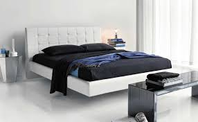 Modern Black And White Bedroom Leather Bed In Simply Modern Black And White Bedroom