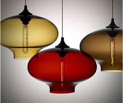 blown glass pendant lamp from nichemodern blown glass lighting pendants