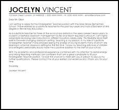 Cover Letter Sample For Kindergarten Teacher Paulkmaloney Com