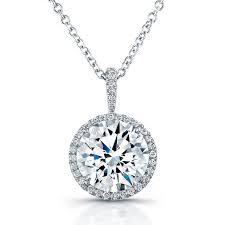 las 18k micro pave diamond pendant