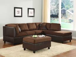 Living Room With Brown Furniture Furniture Pretty Collection Of Microfiber Sectional Sofa