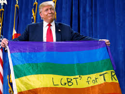 Donald Trump unfurled a rainbow flag with LGBT written on it at a rally in  Greeley, Colorado to express his so-called