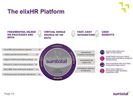 Sum Total Sumtotal Launches Elixhr Platform Eyes Hcm Giants Zdnet