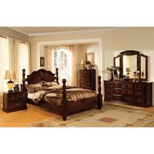 four poster bedroom furniture. Furniture Of America Weston Traditional 4-piece Glossy Dark Pine Poster Bedroom Set Four N
