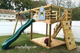 backyard playground plans outdoor created v slide diy metal