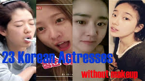 korean stars without makeup daily