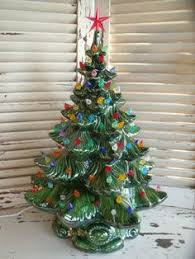 162 Best Ceramic Christmas Trees Images On Pinterest  Ceramic Ceramic Christmas Tree Vintage