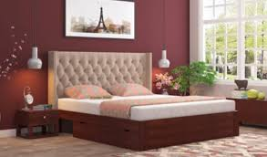 Wooden furniture bed design Real Wood 10 Options Upholstered Bed Furniture Wooden Street Wooden Bedroom Furniture Buy Bedroom Furniture Online Upto 55 Off