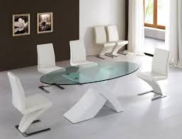 modern glass round dining table ugarelay how to choose a contemporary dining table for a good serving food