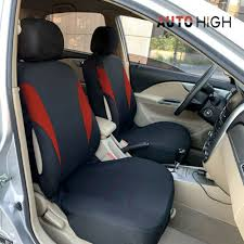 red auto seat cover front row head