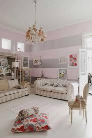 Baby Pink Silver Horizontal Stripes Decoration Ideas Grey Pink