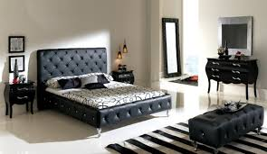 Modern Contemporary Bedroom Sets Black Leather Tufted Headboard For Contemporary Bedroom Sets With