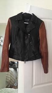 armani jeans genuine leather two tone motorcycle jacket for in santa cruz ca offerup