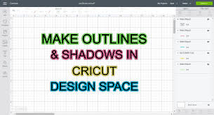 Contour Design Space How To Make Outlines Shadows To Use In Cricut Design Space