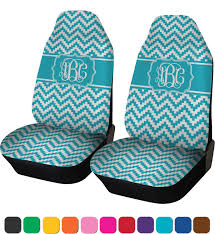 pixelated chevron car seat covers set of two personalized