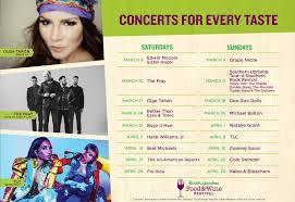 busch gardens 2018 food wine festival concert lineup