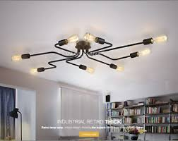 industrial home lighting. Image Is Loading Industrial-Metal-Spider-Flush-Mount-E27-Light-Ceiling- Industrial Home Lighting