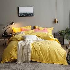 yellow green 100 cotton bed sheet duvet cover bedding set queen king double size bed set pillowcase parrure de lit ropa de cama lime green bedding duvets