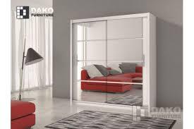 wardrobe dakota white 160cm width sofafox
