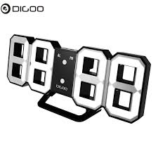 Digoo DC K3 8 Inch Multi Function Large <b>3D LED Digital</b> Wall Clock ...