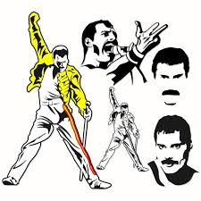 You can download in.ai,.eps,.cdr,.svg,.png formats. Freddie Mercury Svg Queen Designs
