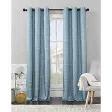 VCNY Home Livingston Solid Foamback Room Darkening Curtain Panel Pair