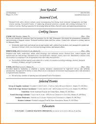 Sample Chef Resumes Sous Resume Samples Visualcv Resumes