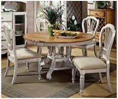 amazon hilale wilshire 5 piece round dining table set in antique white kitchen dining