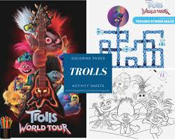 Free printable trolls coloring pages and trolls activity sheets to celebrate the new animated film! Free Printable Trolls Coloring Pages Activity Sheets Zoom Backgrounds More Crazy Adventures In Parenting
